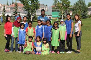 Soccer girls group