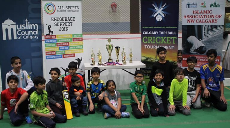 Cricket kids Training session group